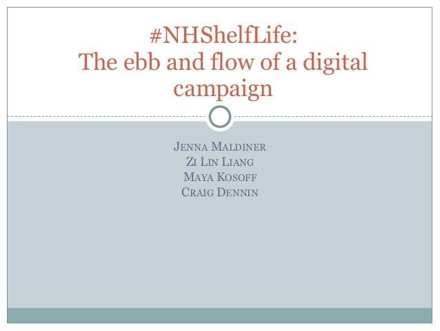 #NHShelfLife:The ebb and flow of a digital         campaign         JENNA MALDINER           ZI LIN LIANG           MAYA K...