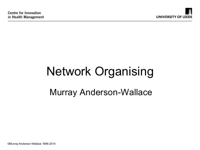 ©Murray Anderson-Wallace 1998-2014 Network Organising Murray Anderson-Wallace