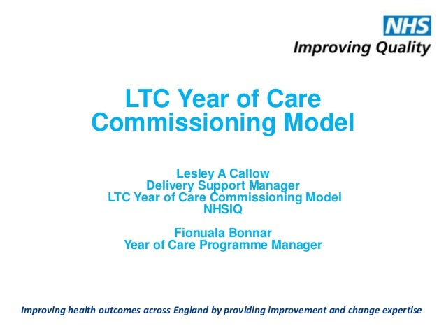 Improving health outcomes across England by providing improvement and change expertise LTC Year of Care Commissioning Mode...