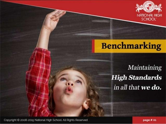 "NHTIONRI.  HIGH SCHOOL""  W --1, . '=. .'{'"" , -  1;  Ma1'nta1'n1'ng *  & High Standards ""L L in all that We do.   Copyrigh..."