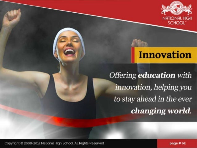"""NFTIIONFIL HIGH SCHOOL""""   2:2- ' 'Ink .  -   V l ' 1 1 I .  I Offering education with innovation,  helping you to stay ahe..."""