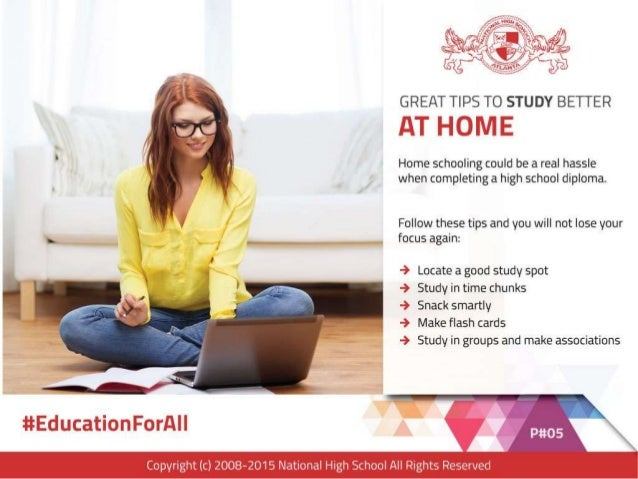 GREAT TIPS TO STUDY BETTER  AT HOME  Home schooling could be a real hassle when completing a high school diploma.   Follow...