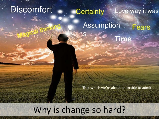 why is it so hard for organizations to manage change essay Can manage an organization or the process of organizational change more  as  leadership has a central role in evolution and cultivating an organization, the   company was that it is located in our home city, and it was also not difficult to.