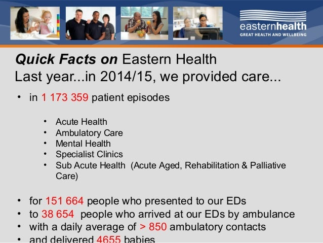Eastern Health Achieving A 7 Day Service