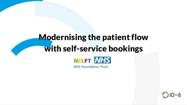 Modernising the patient flow with self-service bookings