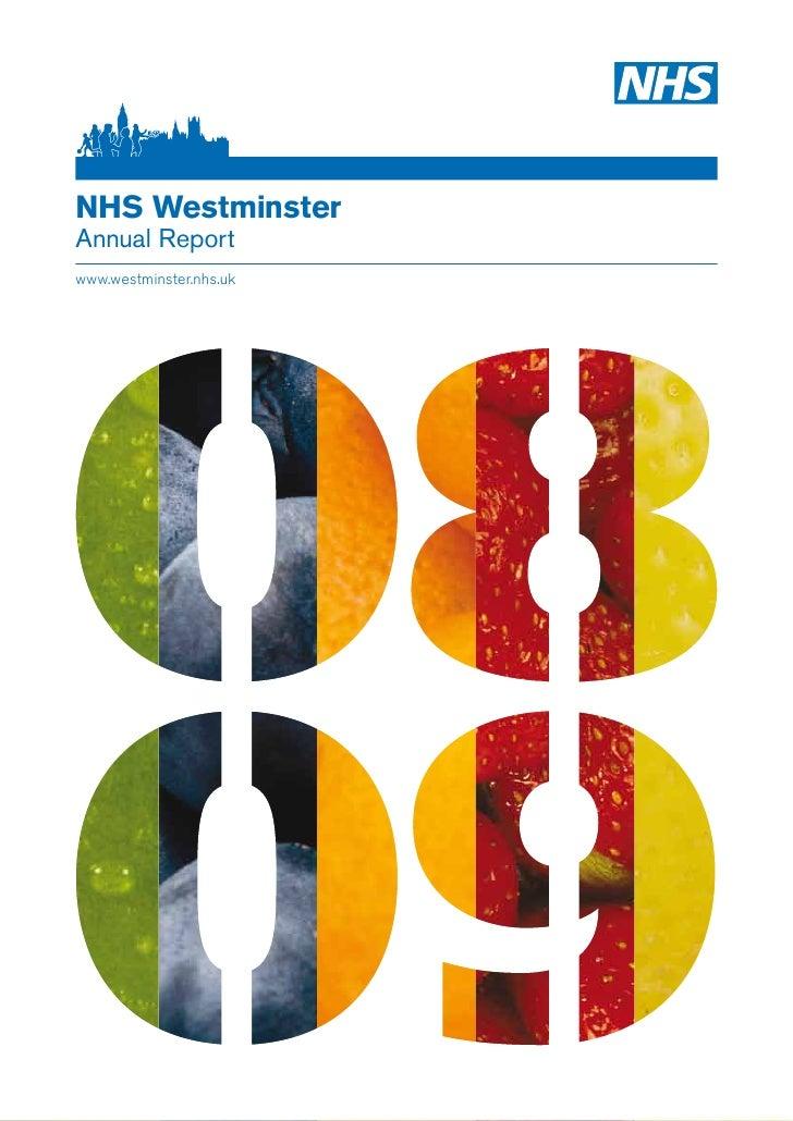 NHS Westminster Annual Report www.westminster.nhs.uk