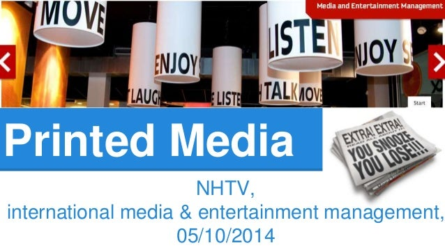 Printed Media  NHTV,  international media & entertainment management,  05/10/2014