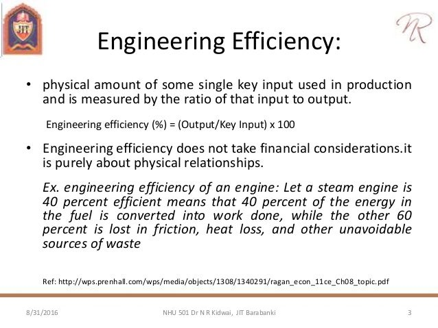 What Is Efficiency >> Concept Of Efficiency Engineering Economics