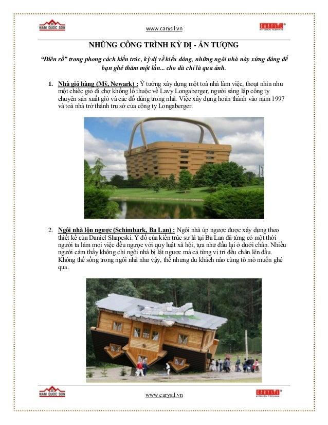 """www.carysil.vn www.carysil.vn NHỮNG CÔNG TRÌNH KỲ DỊ - ẤN TƯỢNG """"Điên rồ"""" trong phong cách kiến trúc, kỳ dị về kiểu dáng, ..."""