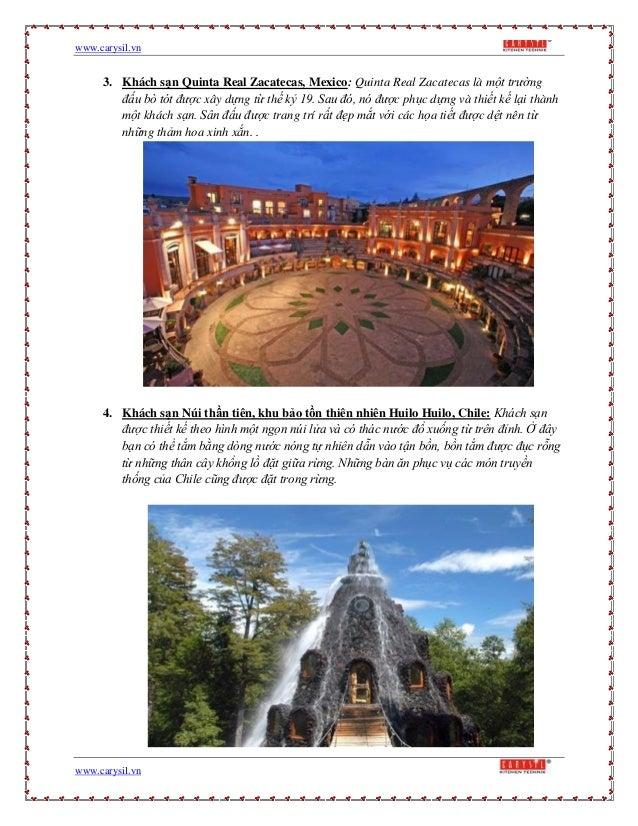 www.carysil.vnwww.carysil.vn3. Khách sạn Quinta Real Zacatecas, Mexico: Quinta Real Zacatecas là một trườngđấu bò tót được...