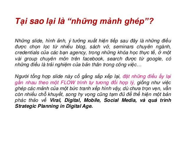 Những mảnh ghép về Viral, Digital, Mobile, Social Media, và quá trình Strategic Planning in Digital Age Slide 3