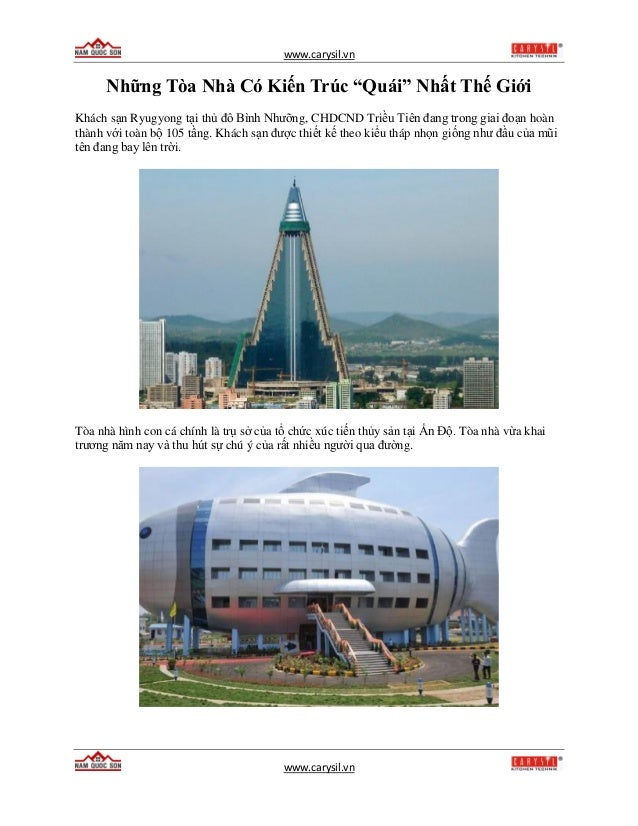 """www.carysil.vn www.carysil.vn Những Tòa Nhà Có Kiến Trúc """"Quái"""" Nhất Thế Giới Khách sạn Ryugyong tại thủ đô Bình Nhưỡng, C..."""