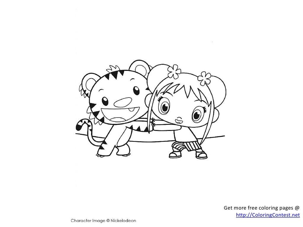 - Free Ni Hao Kai Lan Coloring Pages