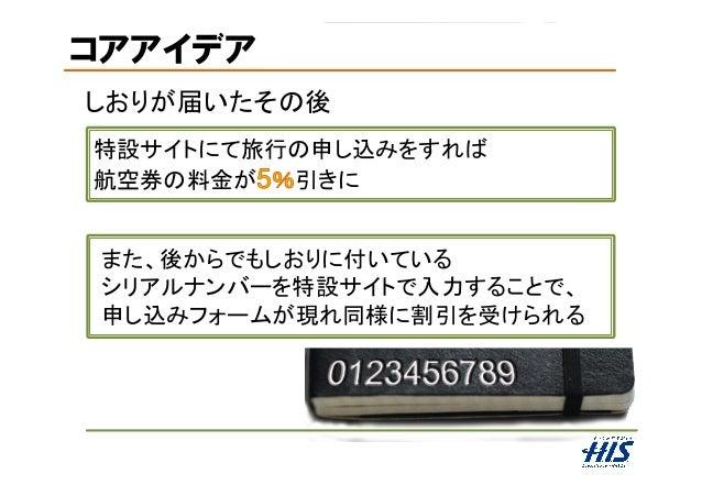 コアアイデア しおりが届いたその後 特設サイトにて旅行の申し込みをすれば 航空券の料金が 引きに また、後からでもしおりに付いている シリアルナンバーを特設サイトで入力することで、 申し込みフォームが現れ同様に割引を受けられる