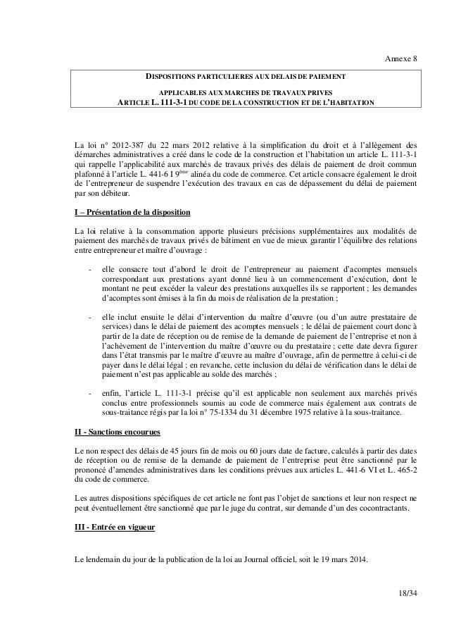 Ni 2014 149 dgccrf note sur la loi hamon for Loi sur les constructions