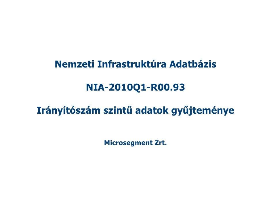 Nemzeti Infrastruktúra Adatbázis           NIA-2010Q1-R00.93  Irányítószám szintű adatok gyűjteménye               Microse...