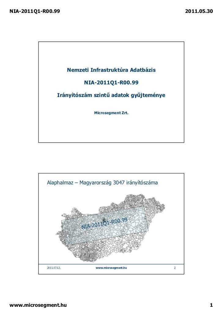 NIA-2011Q1-R00.99                                                2011.05.30                          Nemzeti Infrastruktúr...