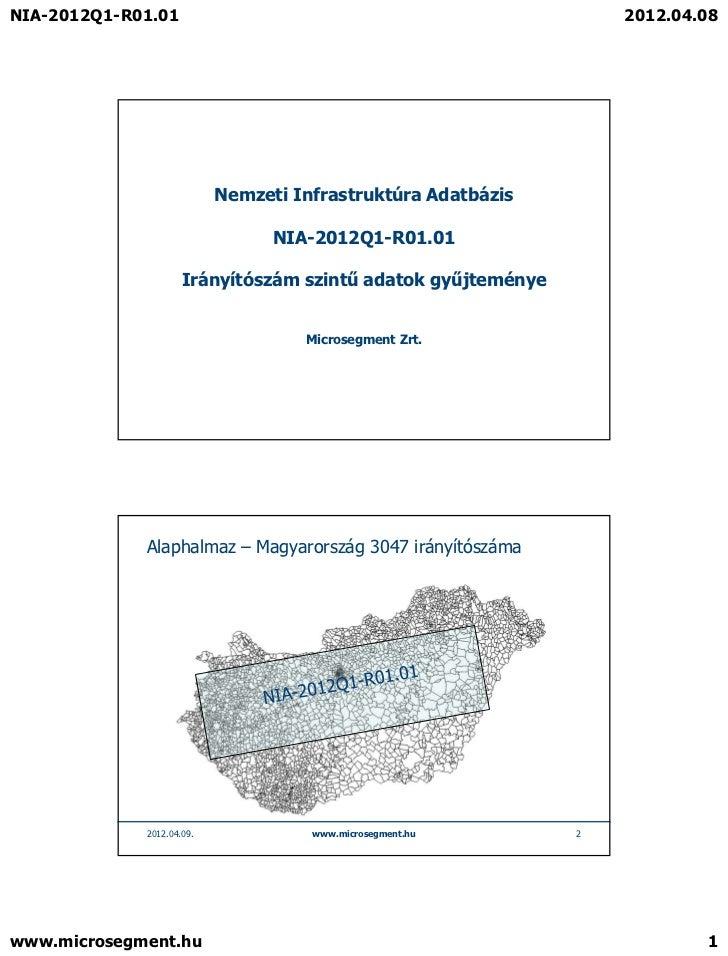 NIA-2012Q1-R01.01                                                 2012.04.08                           Nemzeti Infrastrukt...