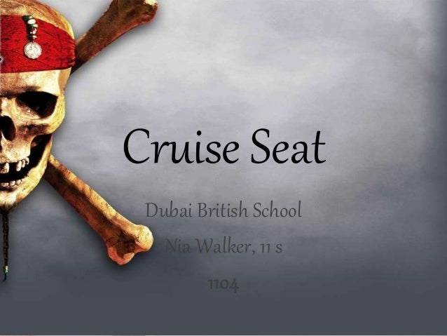 Cruise Seat Dubai British School Nia Walker, 11 s 1104