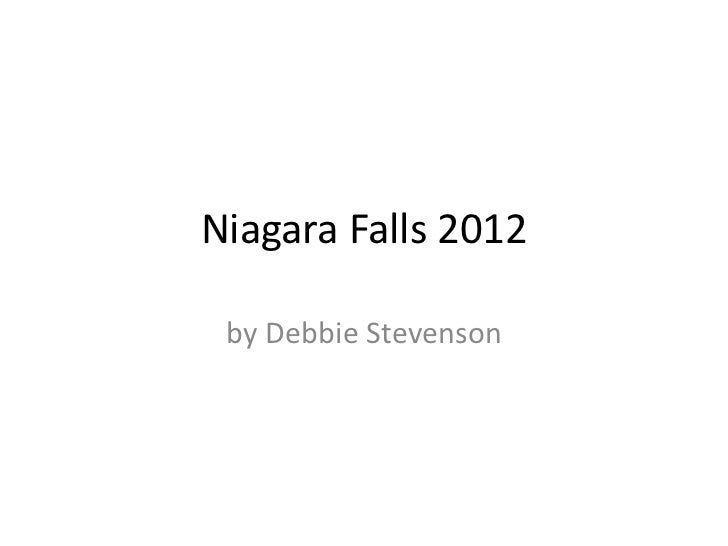 Niagara Falls 2012 by Debbie Stevenson