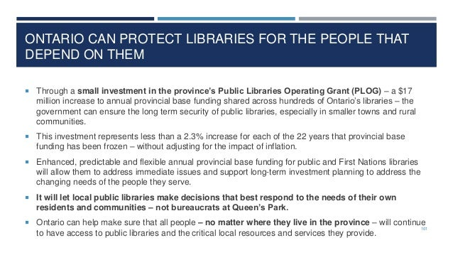 Are Public Libraries a Good Investment? So that answer is YES! Library Year Return on $1 Invested Toronto Public Library 2...