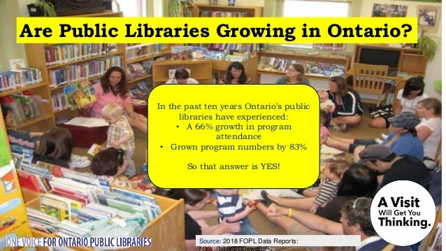 Source: Nordicity's BRIDGE Report: Are Public Libraries Growing Employment in Ontario? A 2018 Nordicity study found that, ...