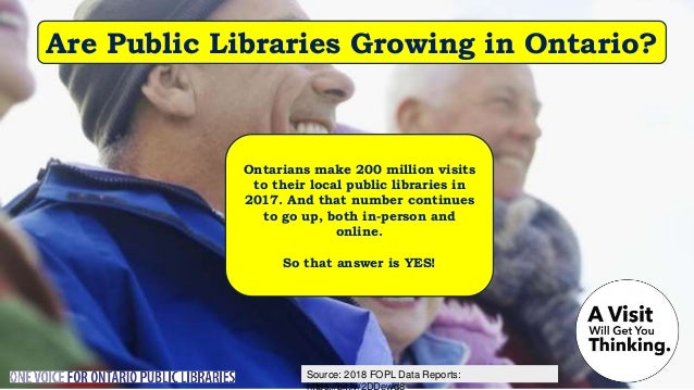 Source: Nordicity's BRIDGE Report: Are Ontario's Public Libraries Growing in Social Engagement? A 2018 Nordicity study fou...