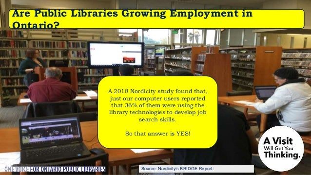 51.3% of Ontario libraries reported having a makerspace at their library – including 50% of libraries serving fewer than 5...