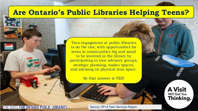Do Public Libraries Partner for Teens in Ontario? Public libraries are an important community partner, with libraries repo...