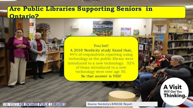 In 2017 over 223,000 Ontarians took e-courses through the library's website. So that answer is YES! Are Public Libraries S...
