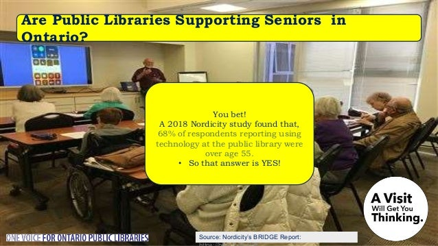 Do Public Libraries Visit the Homebound? In 2017 Public Libraries made 60,000 visits to homebound cardholders (and more at...