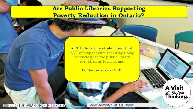 Does the Province support Public Libraries in Ontario? The province of Ontario provides less than 1/100 of a single cent p...