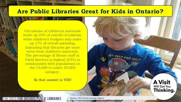 Source: Nordicity's BRIDGE Report: Are Public Libraries Adapting to the 21st Century? Other public benefit sectors look to...