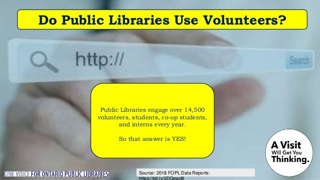Source: Nordicity's BRIDGE Report: Do Ontarians Want More from the Public Library? They're asking for MORE: Programs that ...