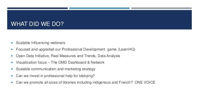 FOPL ACTIVITIES  Research on Value (i.e. School Readiness Study from OISE 2012, Market Probe Study 2010, Economic & Socia...
