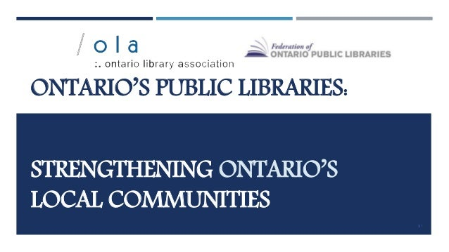 PUBLIC LIBRARIES SUPPORT JOB-SEEKERS Michael Bonfield, Ontario When Michael was laid off from his utilities job, he set ou...