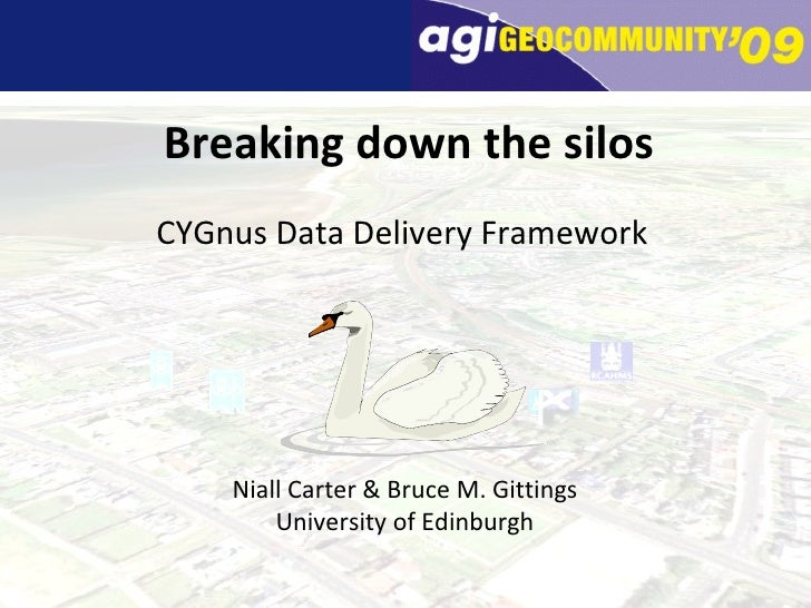 Breaking down the silos CYGnus Data Delivery Framework Niall Carter & Bruce M. Gittings University of Edinburgh