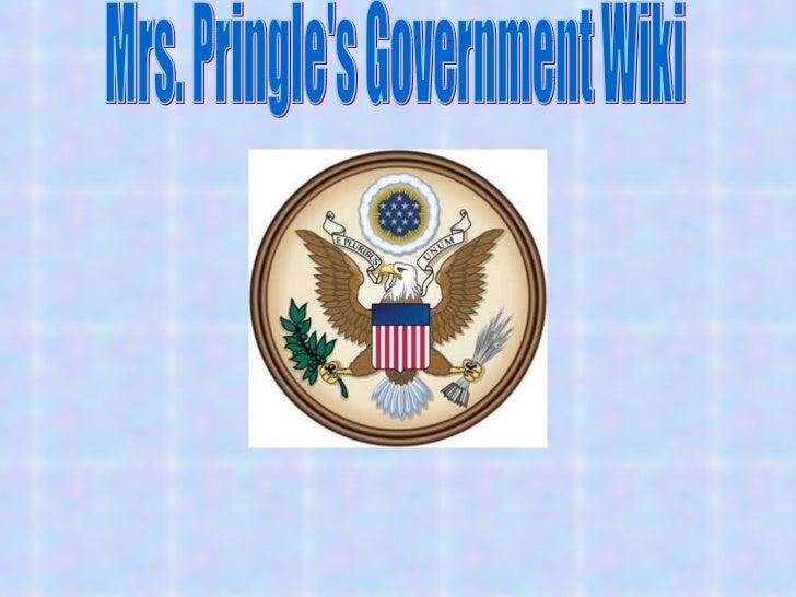 Mrs. Pringle's Government Wiki