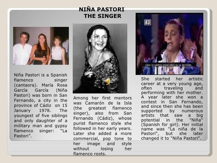 NIÑA PASTORI                               THE SINGERNiña Pastori is a Spanishflamenco           singer                   ...