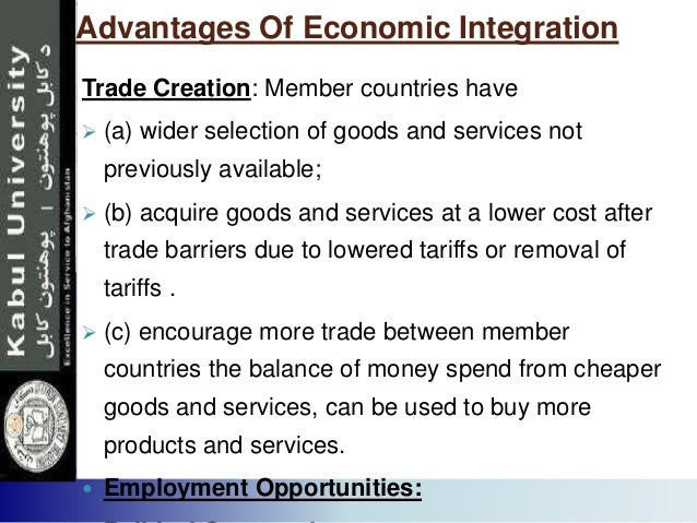 advantages and disadvantages of regional integration in afta Agreement on the common effective preferential tariff scheme for the asean free trade area  and asean economic integration:  regional integration.