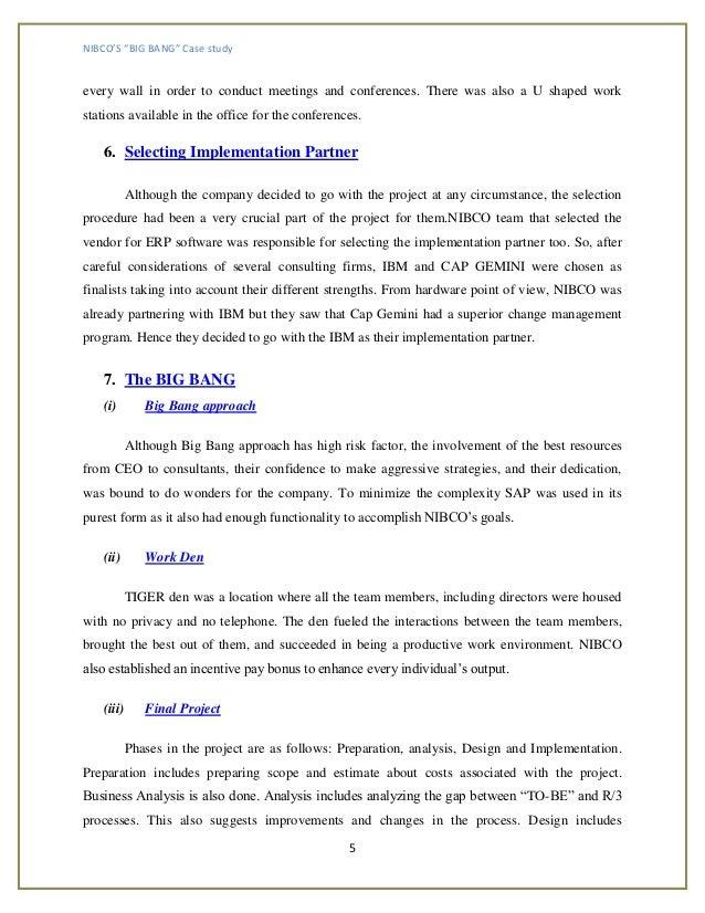 """Nibco's """"big Bang"""": An Sap Implementation"""