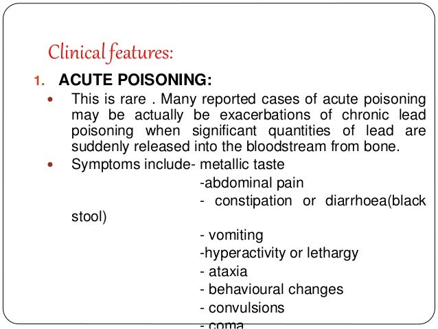 Arsenic And Lead Poisoning