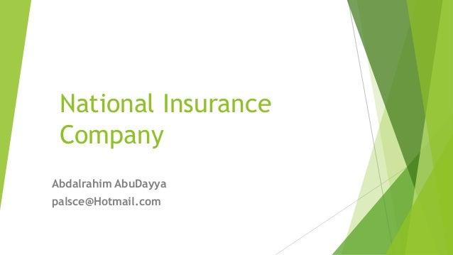 National Insurance Company