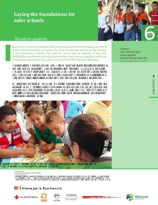 1 6Authors: Ima Tamara Lagos1 Denis Argeñal1 Norlan Tercero Bucardo2 Editor: Ismael Espino Lozano3 1 2 3 4 Laying the foun...