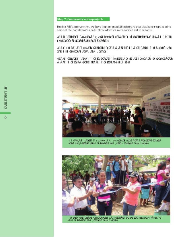 During PfR's intervention, we have implemented 28 microprojects that have responded to some of the population's needs, thr...