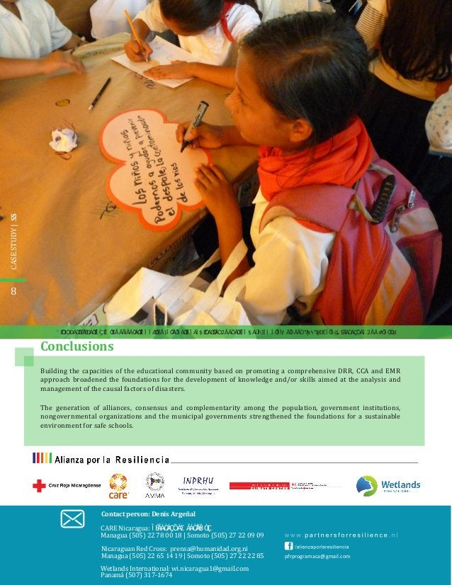 8 pfrprogramaca@gmail.com Conclusions Building the capacities of the educational community based on promoting a comprehens...