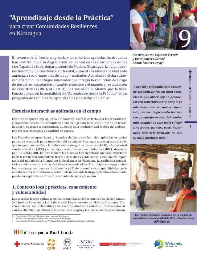 """""""Aprendizaje desde la Práctica"""" para crear Comunidades Resilientes en Nicaragua El avance de la frontera agrícola y las pr..."""