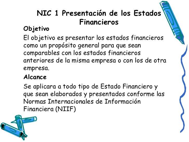Nic 1 presentaci n de los estados financieros for Que es politica internacional