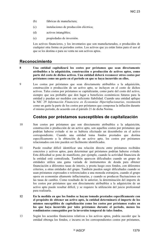 NIC 23        (b)       fábricas de manufactura;      (c)       instalaciones de producción eléctrica;      (d)       acti...