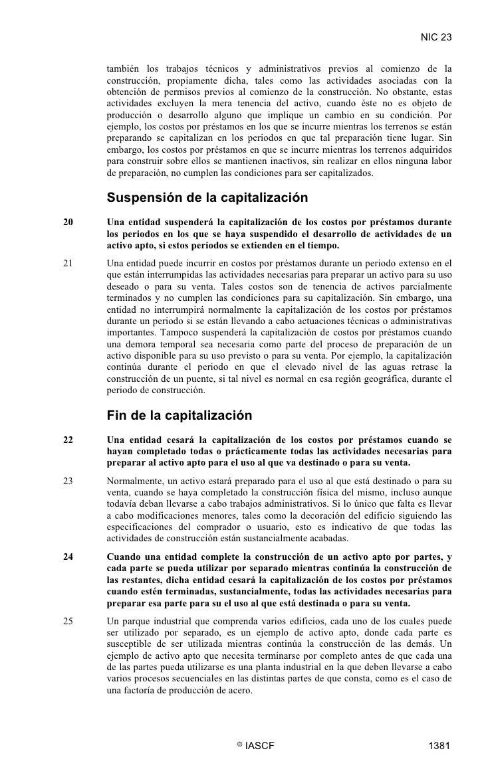 NIC 23        también los trabajos técnicos y administrativos previos al comienzo de la      construcción, propiamente dic...